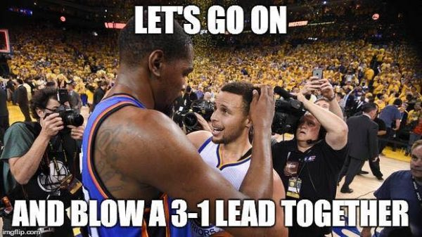 Blow a 3-1 lead together
