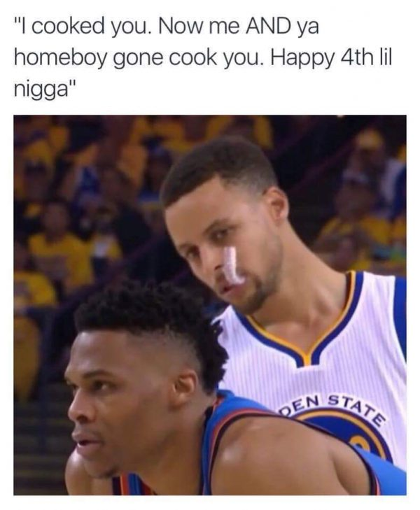 Curry trash talk Westbrook