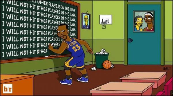 Draymond Green Simpsons Meme