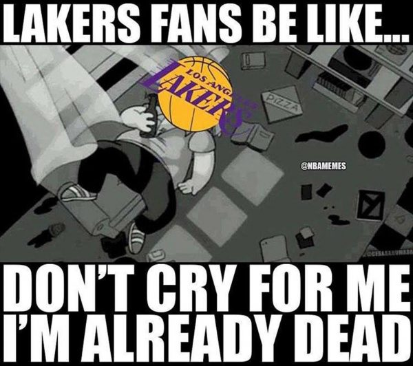 Lakers Fans crying