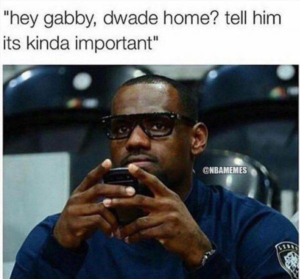 LeBron calling Wade 2