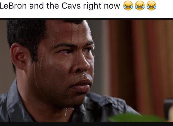 LeBron sweating