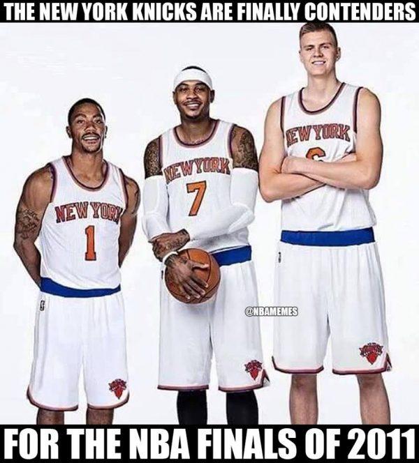 Rose Carmelo Porzingis Knicks Meme