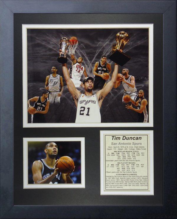Tim Duncan Framed Photo Collage