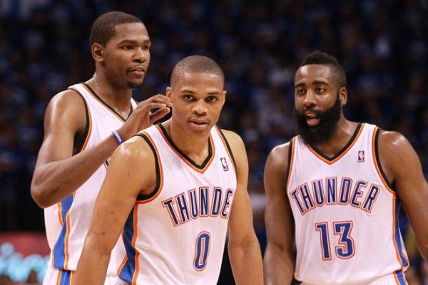 Durant, Harden, Westbrook, Thunder
