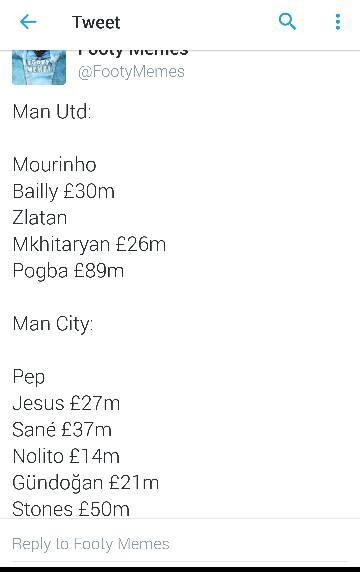 Mourinho & Guardiola spending