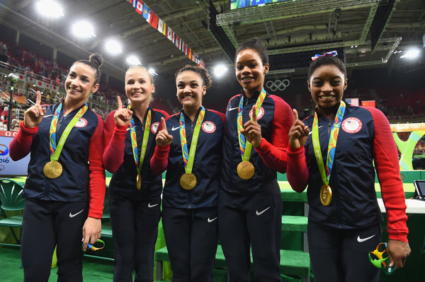 Alexandra Raisman, Madison Kocian, Lauren Hernandez, Gabrielle Douglas and Simone Biles