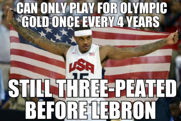Carmelo Olympic three-peat