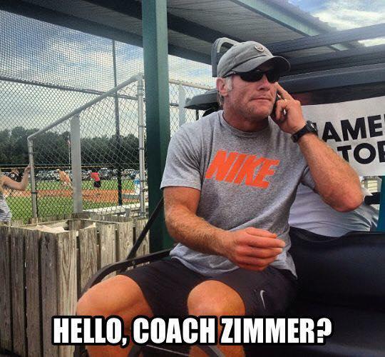 Coach Zimmer Favre