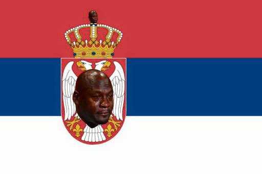 Crying Jordan Serbia Flag
