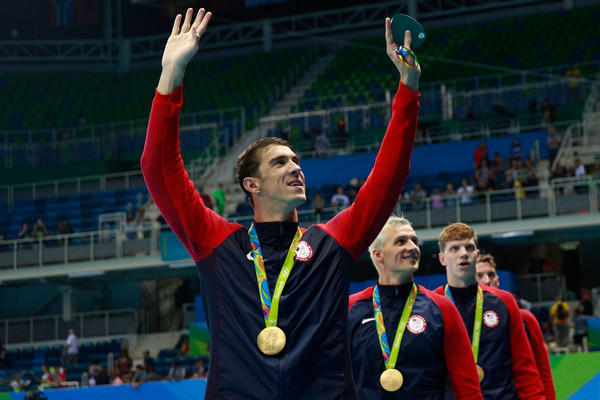 Michael Phelps Relay Gold