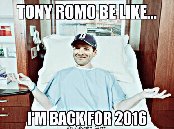 Romo back for 2016