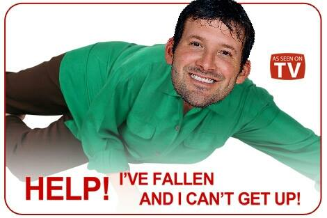 Romo can't get up