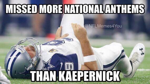 Romo national anthems joke