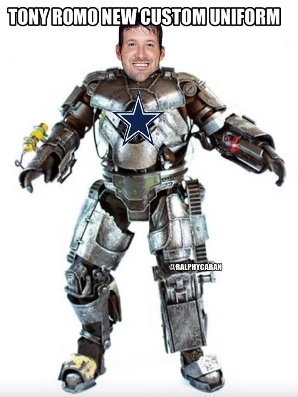 Romo new uniform