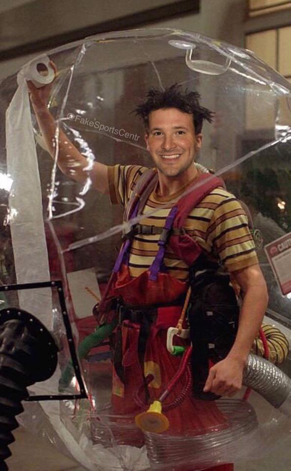 Tony Romo bubble boy