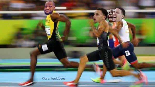 Usain Bolt LeBron Warriors