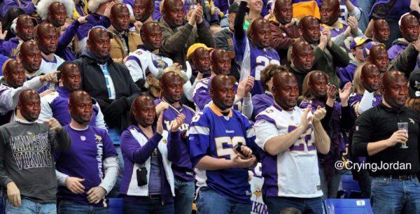 Vikings fans crying jordan