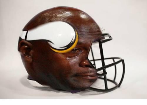 Vikings helmet crying jordan
