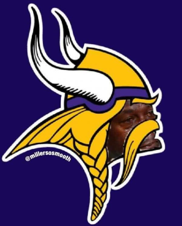 Vikings logo crying jordan