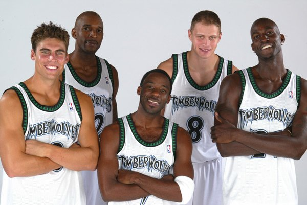 With Wally Szczerbiak, Joe Smith, Terrell Brandon, Radoslav Nesterovic