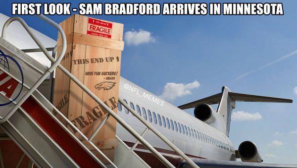 Bradford arrives