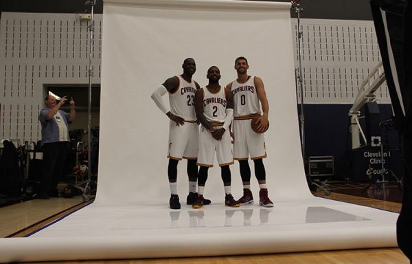Kyrie Irving, LeBron James & Kevin Love