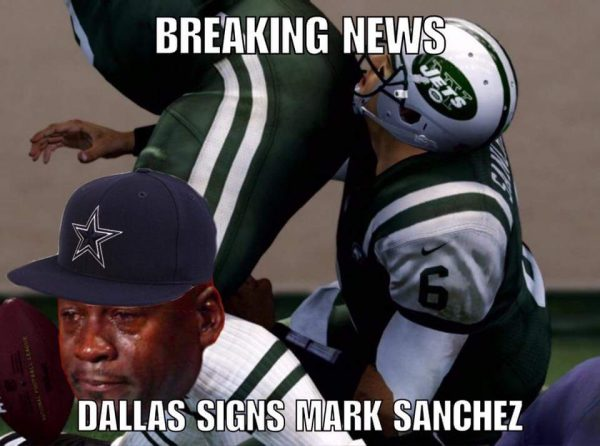 Crying jordan Mark Sanchez