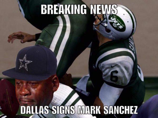 Crying jordan Mark Sanchez