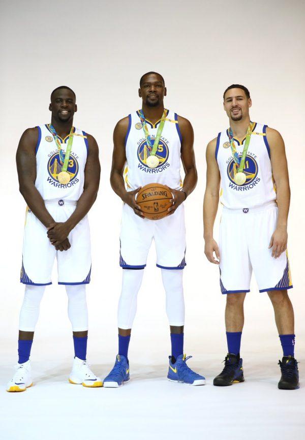 Kevin Durant, Draymond Green & Klay Thompson