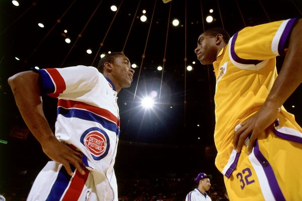 Magic Johnson and Isiah Thomas 20-10