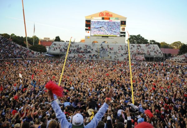 Ole Miss fans rushing the field