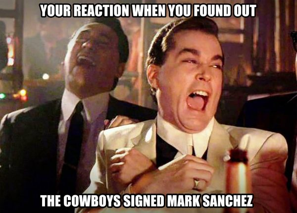 Reaction to Cowboys signing Sanchez