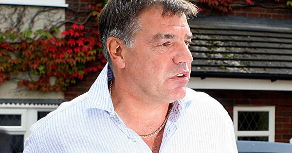 Sam Allardyce speaking with the media after leaving the England manager position