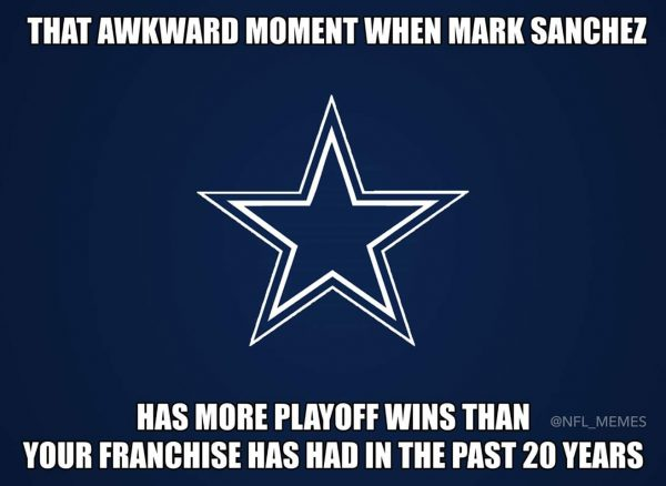 Sanchez more playoff wins than Dallas