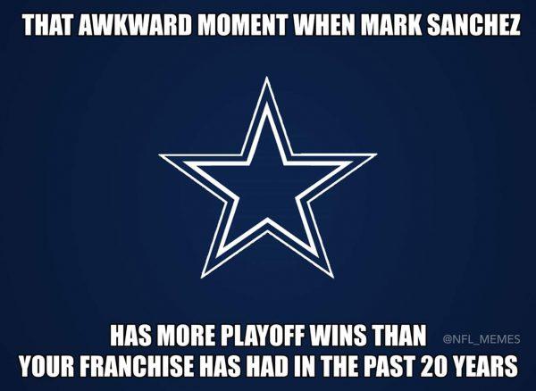 Sanchez more playoff wins than Dallas