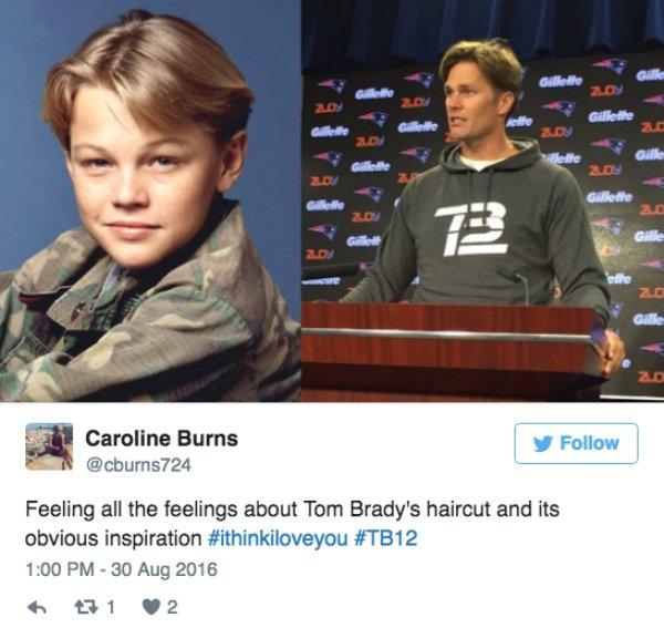 Tom Brady young di caprio