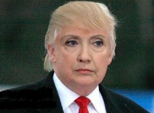 trump-hair-hillary-face