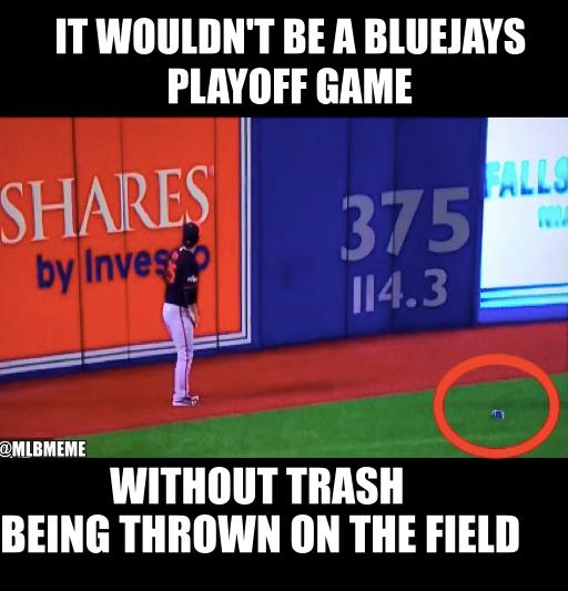 Blue Jays Trash Fans