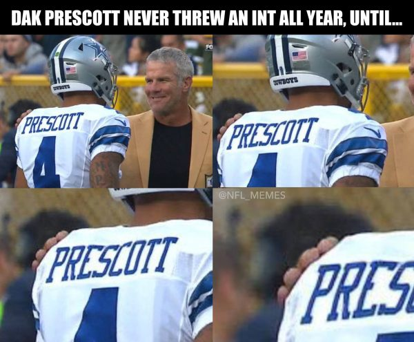 Brett Favre touched Dak Prescott e1476713511235 30 best memes of dak prescott & the dallas cowboys beating aaron