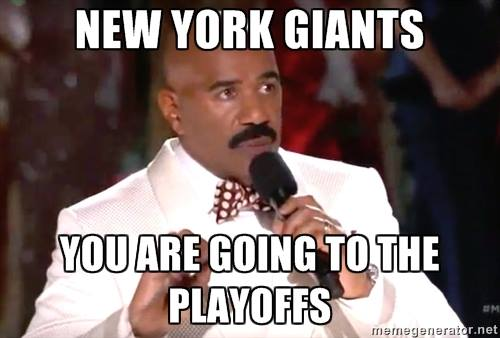 Giants going to the playoffs lie