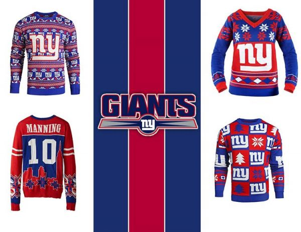 New York Giants Ugly NFL Christmas Sweater 2016