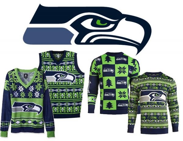 Seattle Seahawks Ugly NFL Christmas Sweater 2016