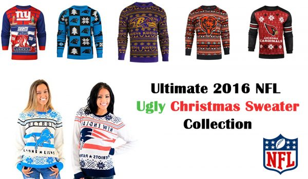 sports shoes 23ae2 f7edf Ultimate 2016 NFL Ugly Christmas Sweater Collection