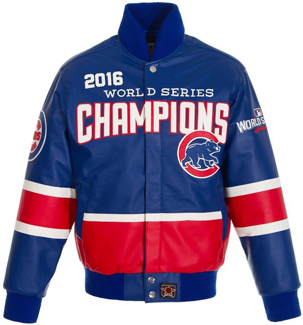 Chicago Cubs 2016 World Series Men's Leather Hand Crafted Jacket