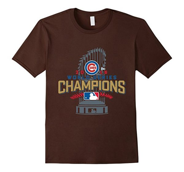 Cubs 2016 World Series Champions With Trophy T-Shirt