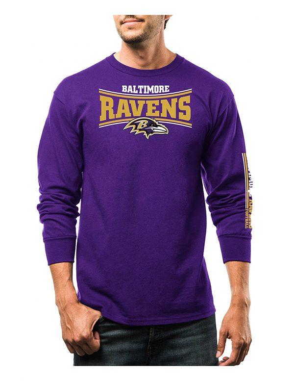 NFL Men's Long Sleeve Fleece Sweatshirt Baltimore Ravens