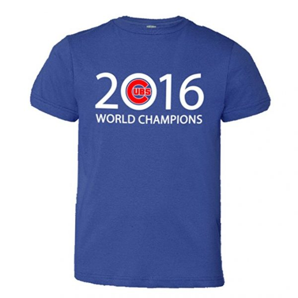 Youth Chicago Cubs 2016 World Series Champions T-Shirt