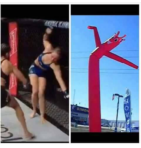 rousey-flapping-around