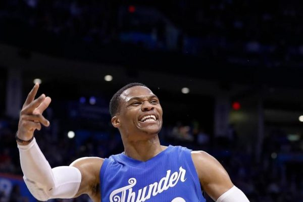 Smiling Russell Westbrook